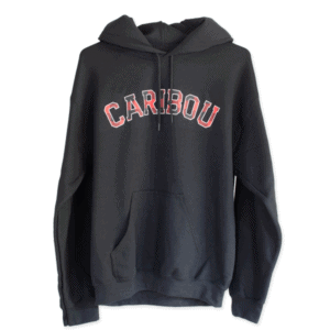 Caribou Black Color Hoodie