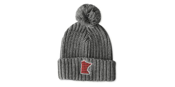 Buffalo Plaid MN Knit Hat