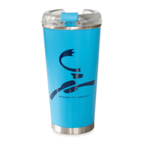 Caribou Logo Stainless Blue Front