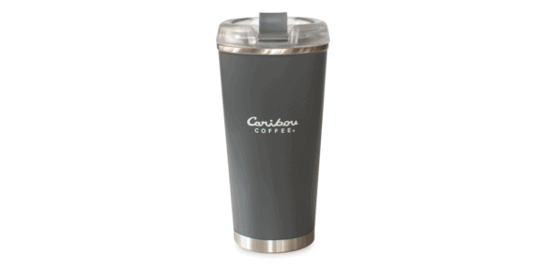 Caribou Logo Stainless Charcoal Back