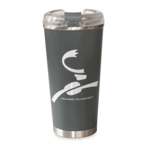 Caribou Logo Stainless Charcoal Front