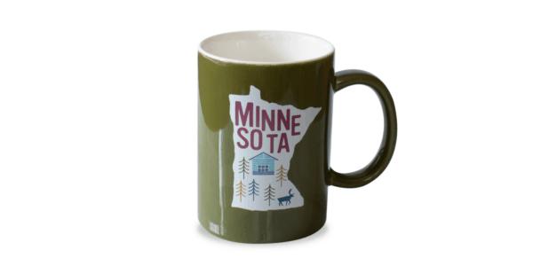 MN Ceramic Mug Olive Green Front