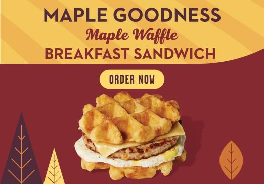 Maple Waffle Sandwich Mobile