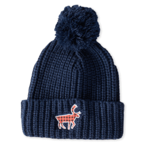 Walking Bou Knit Hat Navy
