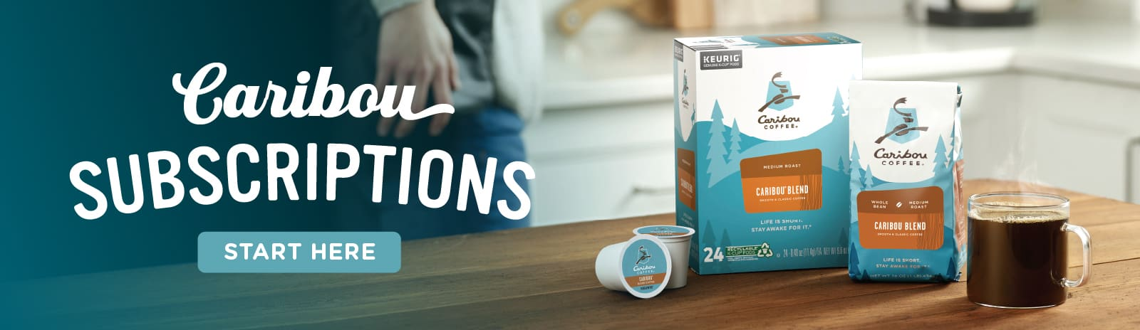 K-Cup Pods, Coffee Beans and Coffee. Caribou Subscriptions Start Here