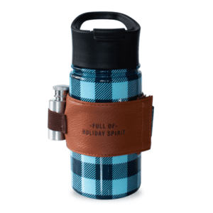 Buffalo Plaid Stainless with Flask Blue Black
