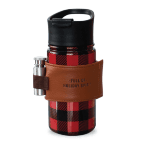 Buffalo Plaid Stainless with Flask Red Black