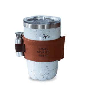 Speckled Stainless White Flask