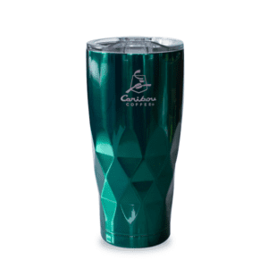 Tall Faceted Tumbler Emerald