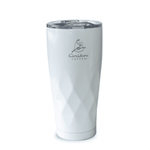 Tall Faceted Tumbler White