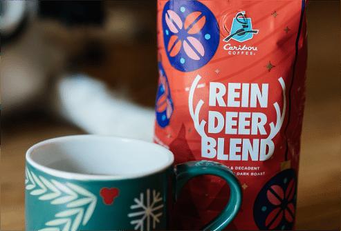Reindeer blend and coffee cup