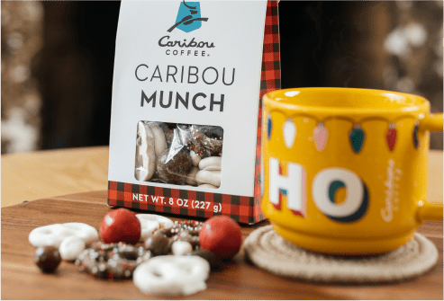 Caribou Munch and a mug